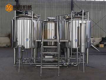 Chiny PLC Three Vessels Commercial Brewing Equipment, Fermentation Equipment fabryka